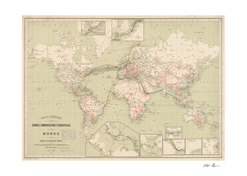 Vintage Map of The World (1898)