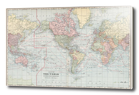 Vintage Map of The World (1901)