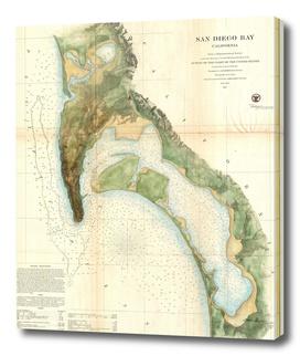 Vintage Map of San Diego California (1857)