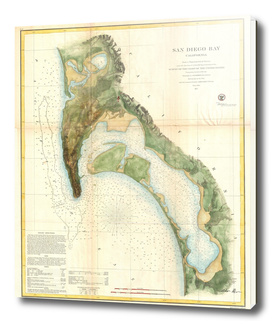 Vintage Map of San Diego California (1857)