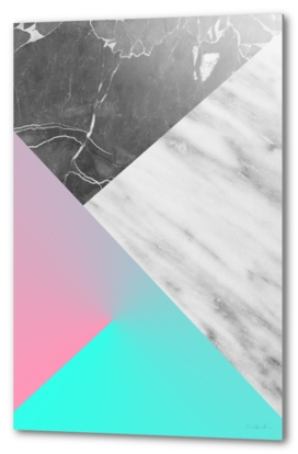Marble Collage with Summer Colors