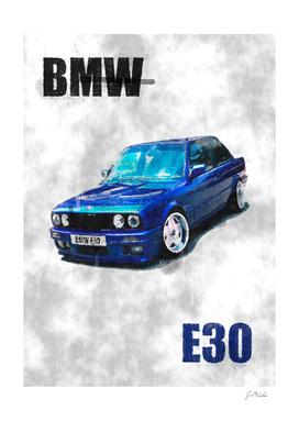 BMW E30 sketch