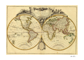 Vintage Map of The World (1782)