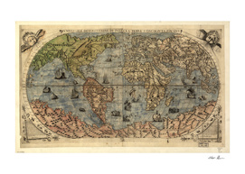 Vintage Map of The World (1565)