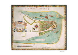 Vintage Map of New York City (1664)