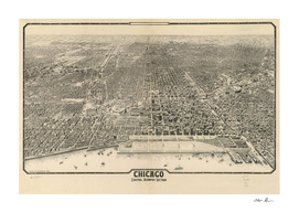 Vintage Map of Chicago (1916)