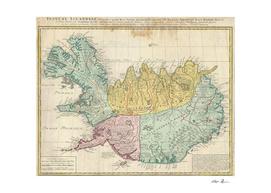 Vintage Map of Iceland (1761)