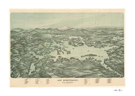 Vintage Map of Lake Winnipesaukee (1903)