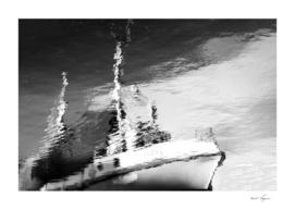 Dramatic Norway ship water reflection
