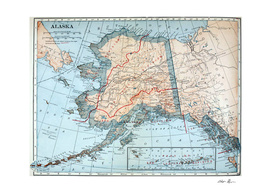 Vintage Map of Alaska (1921)