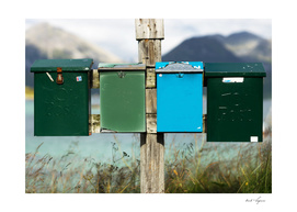 Norway colorful mailboxes
