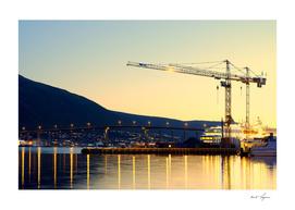 Scandinavian construction crane