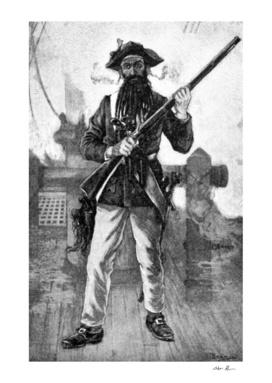 Vintage Blackbeard Illustration
