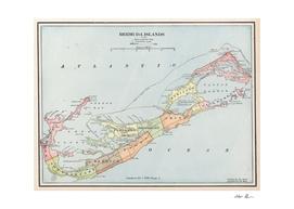 Vintage Map of Bermuda (1901)