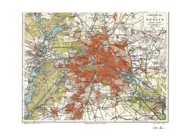 Vintage Map of Berlin Germany (1905)