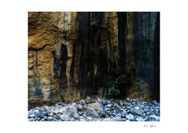 Dramatic rocky texture