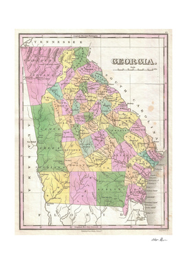 Vintage Map of Georgia (1827)