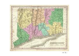 Vintage Map of Connecticut (1827)