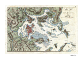 Vintage Map of Boston Harbor (1807)