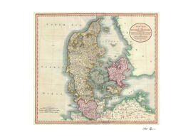 Vintage Map of Denmark (1801)