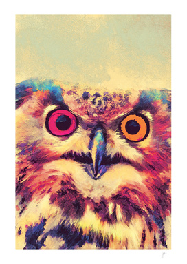 animal owl 2 art