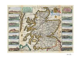 Vintage Map of Scotland (1747)