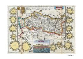 Vintage Map of Portugal (1747)