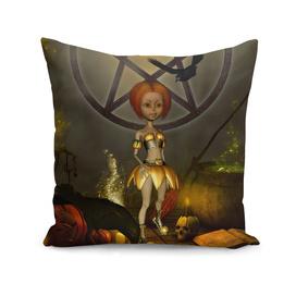 Halloween design with pumpkin