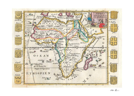 Vintage Map of Africa (1710)