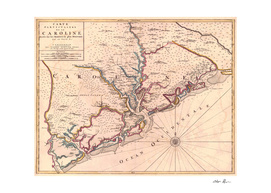 Vintage Map of Charleston South Carolina (1690)