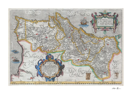 Vintage Map of Portugal (1579)