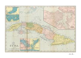 Vintage Map of Cuba (1898) 2