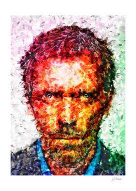 House M.D. Hugh Laurie illustration