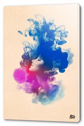 Psychedelic Ink Girl Watercolor