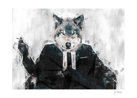 The wolf-intellectual sketch