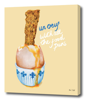 un oueuf with all the fun puns