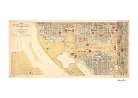 Vintage Map of Washington DC (1917)