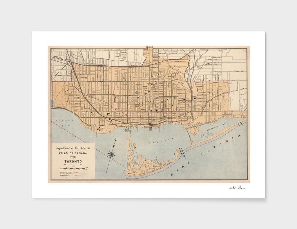 Vintage Map of Toronto (1906)