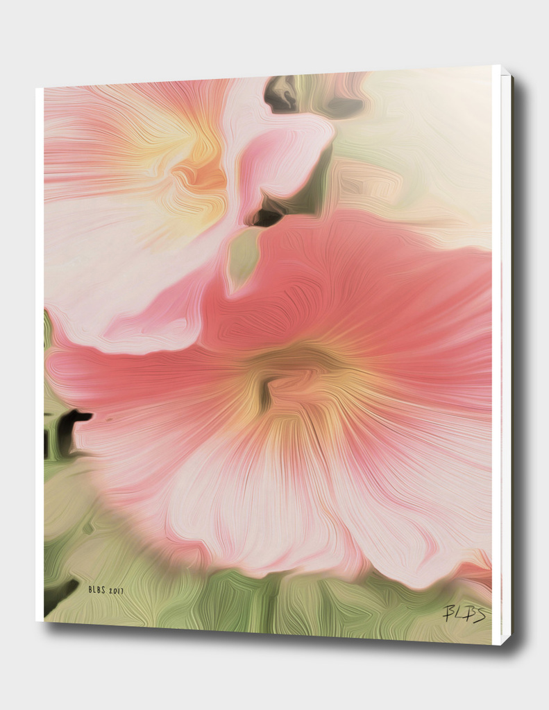 Hollyhocks - Tribute to O'Keeffe