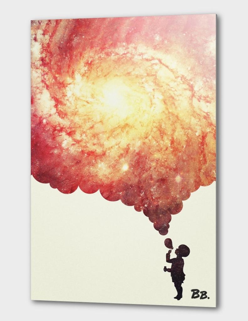 The universe in a soap-bubble  Negative Space Artwork