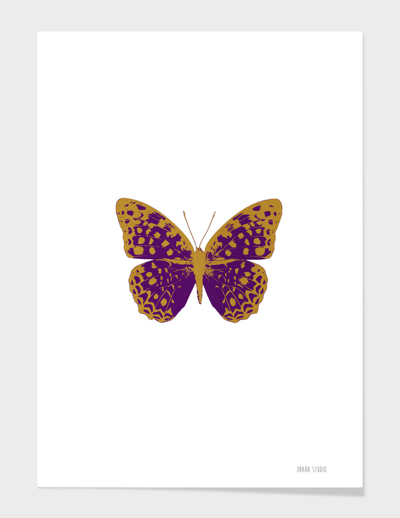 Dark Purple Butterfly