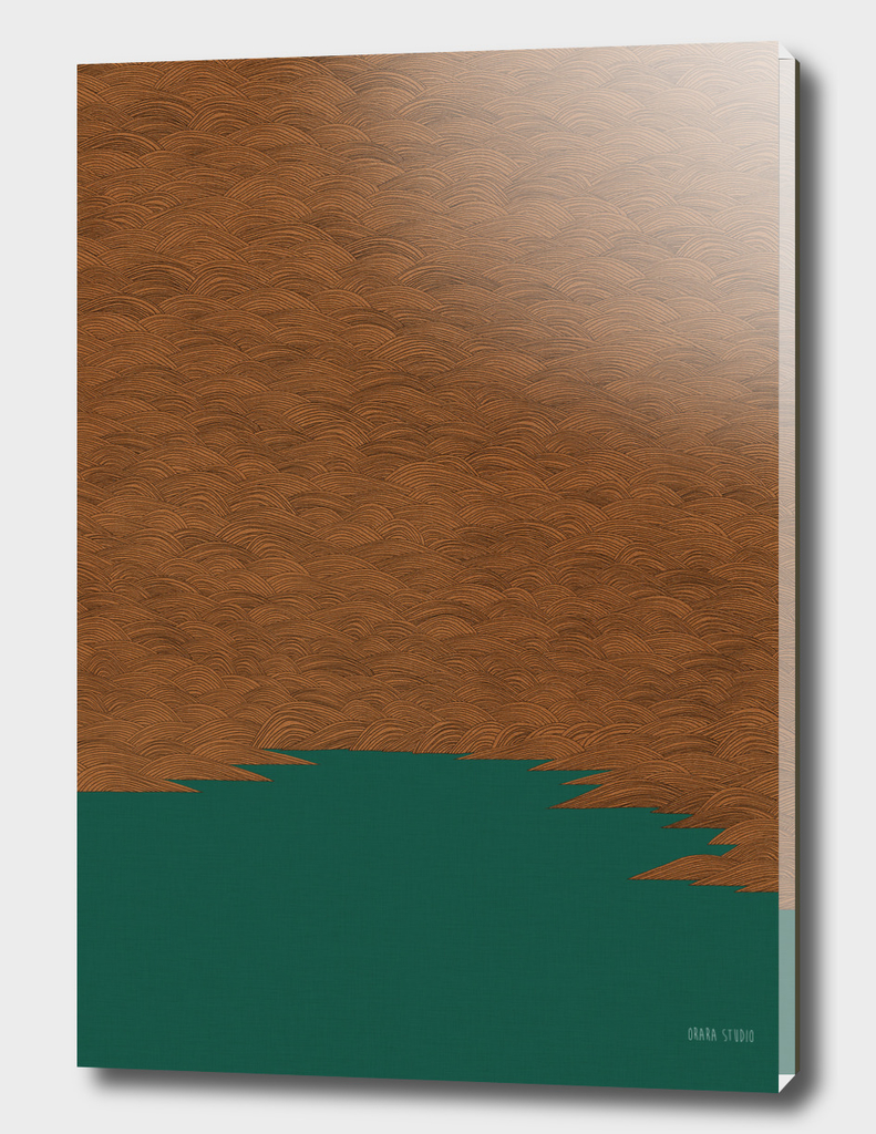 Copper and Green Abstract