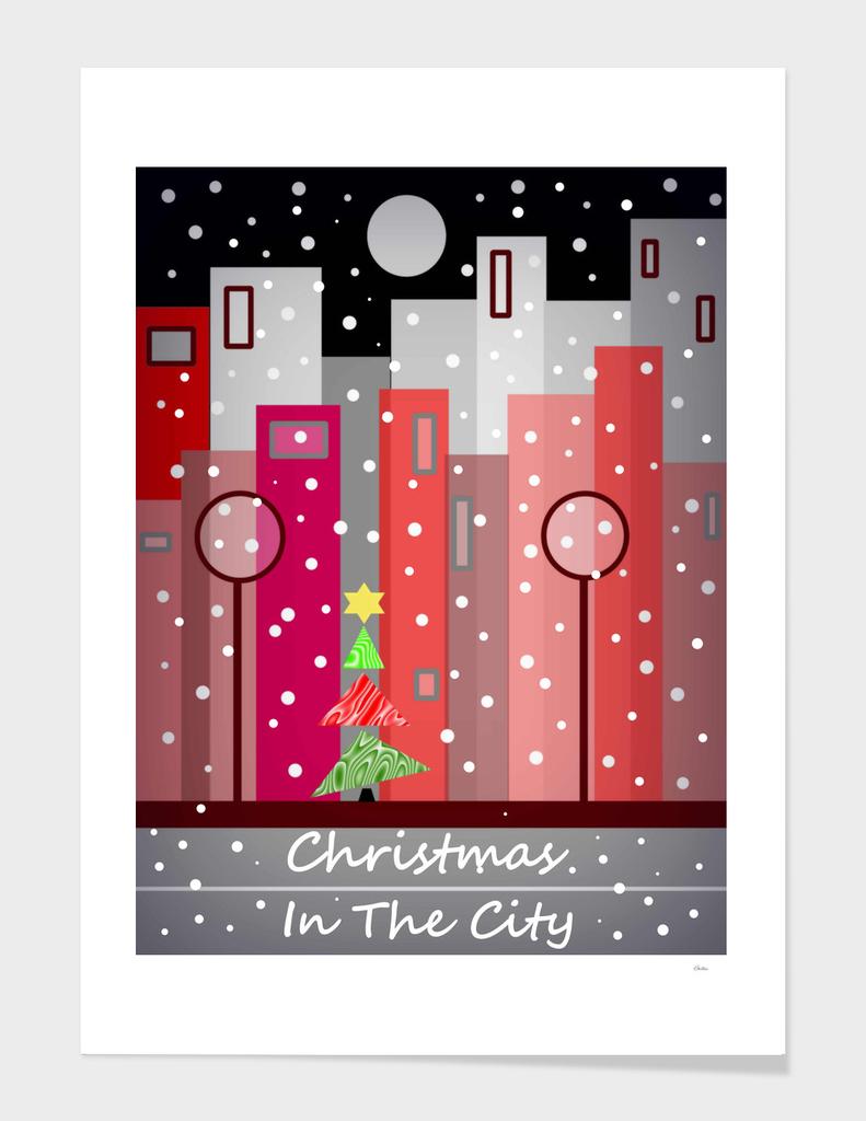 City Christmas Snowfall