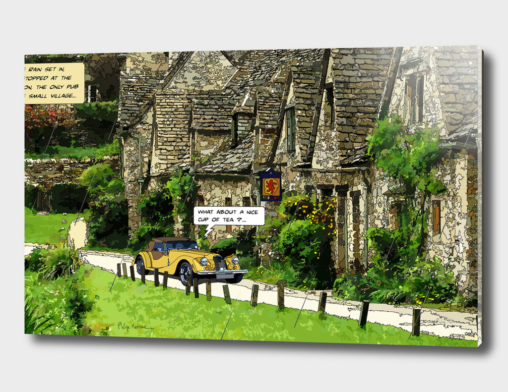 English Village, yellow Morgan