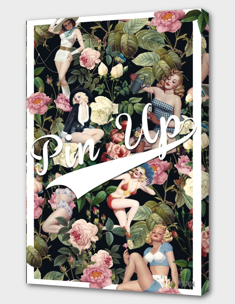 Floral and Pin Up Girls Pattern