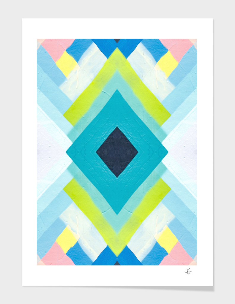 geometric color paint