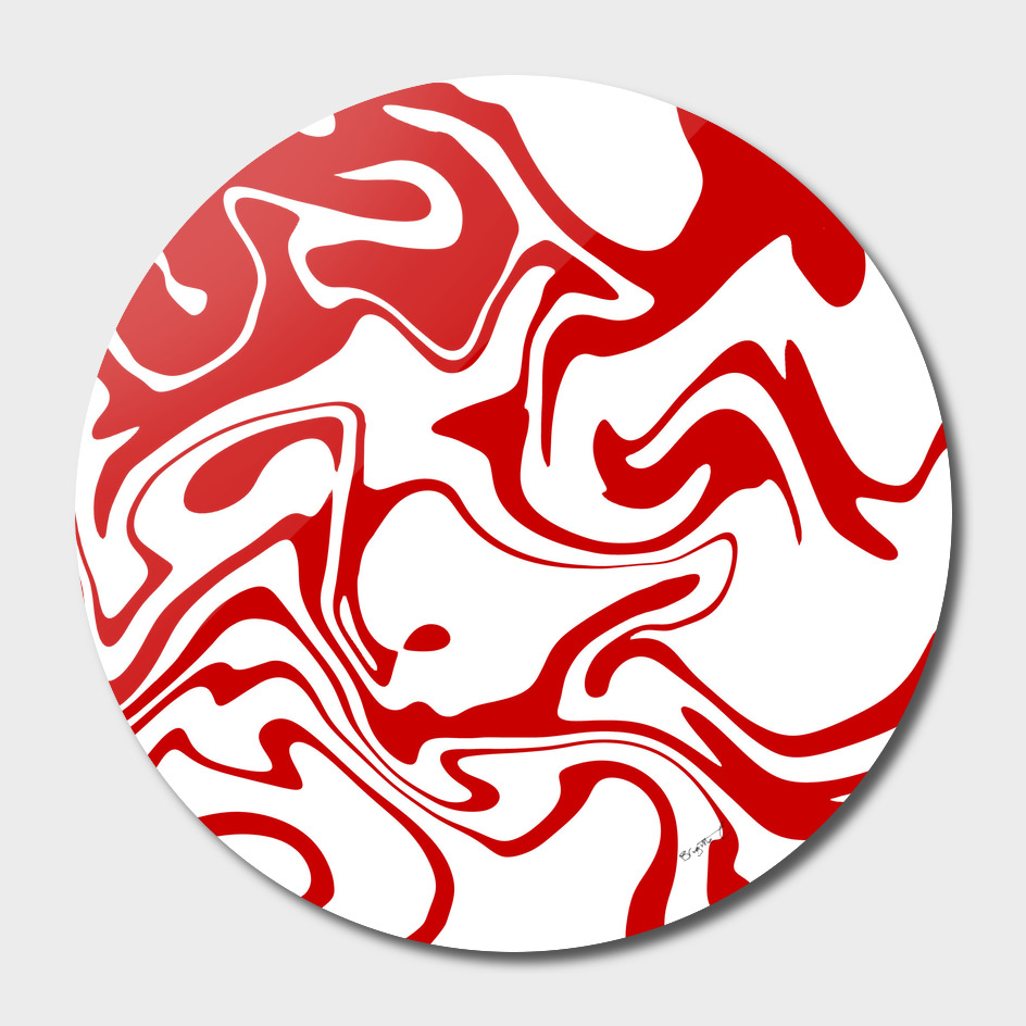 Red Liquid Marble Effect Pattern