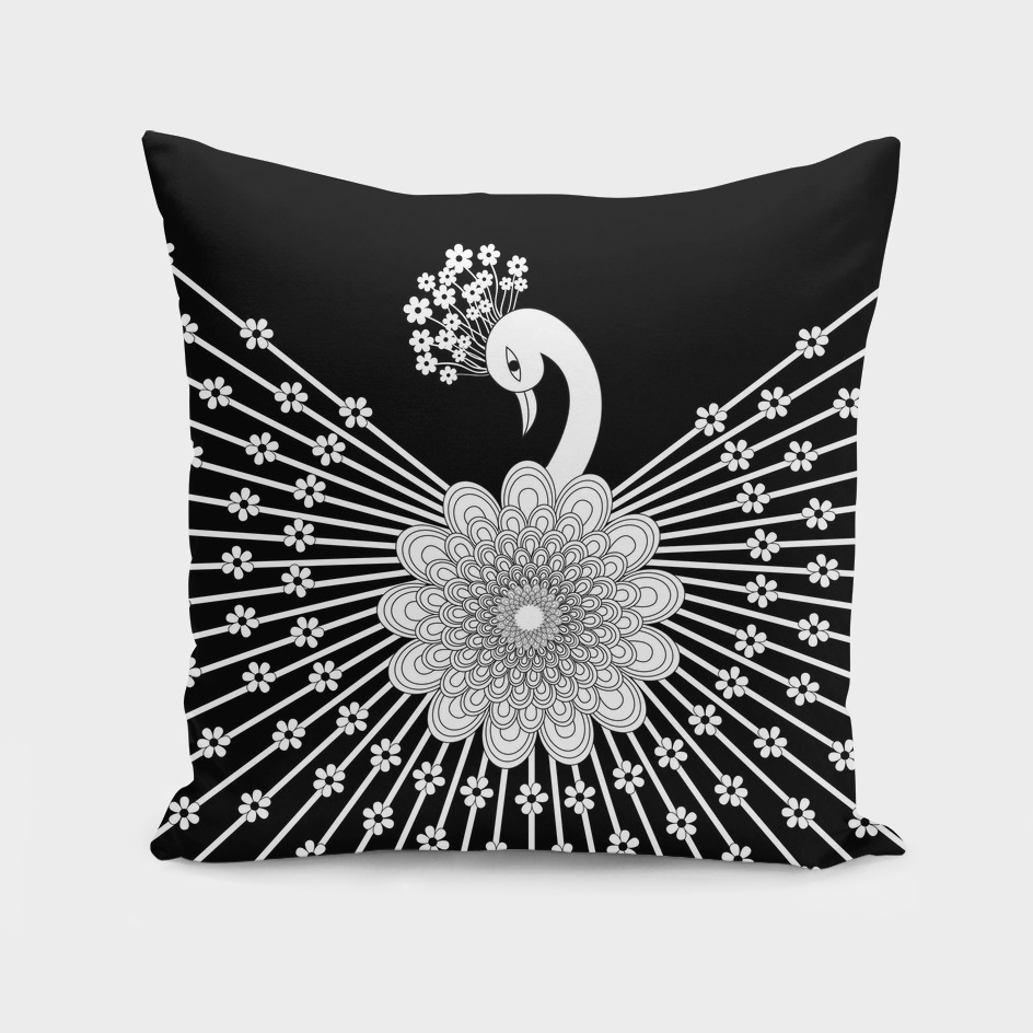 peacock white.