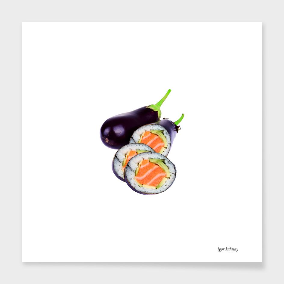 eggplant sushi