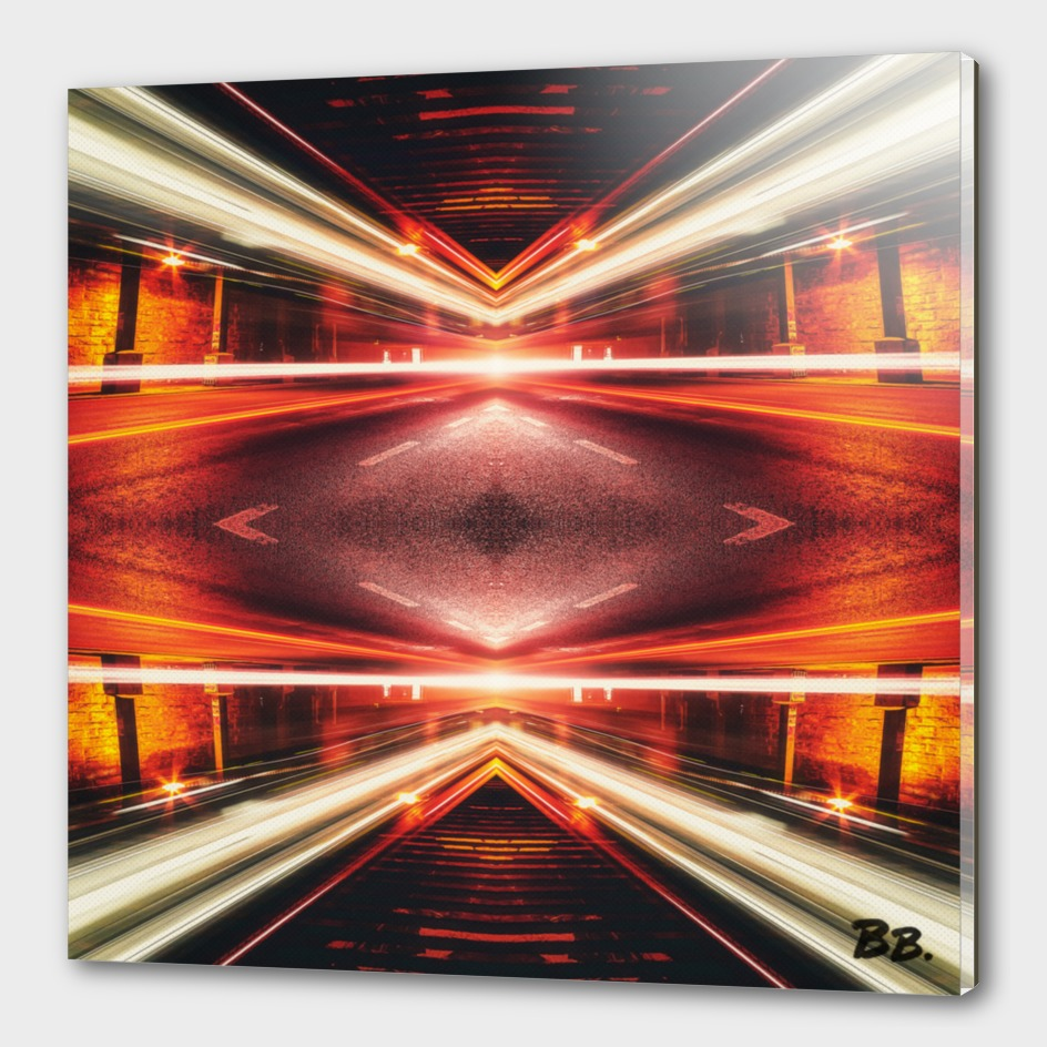 Geometric Street Night Light (HDR Photo Art) XTFORCE-TB